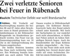 Bericht Rhein-Zeitung vom 21.10.2011